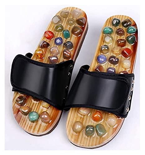 Zapatillas de baño Acupressure Massager Jade Stone Acupoint Masaje Zapatos Zapatos Sandalias de reflexología, Zapatos de masaje, Para Cuidado de los pies Sandalias de ducha Zapatillas de baño