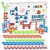 Magicat Juego de 12 Piezas Puzzle Serpiente Mágica - Serpiente Juguete de Rompecabezas para Niños - Magic Snake Cube diferente Color para Fiestas