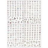 Rollo de 100 pegatinas sonriente Corazón para Niños Artesaníapara niños Artesanía Pegatinas Etiquetas