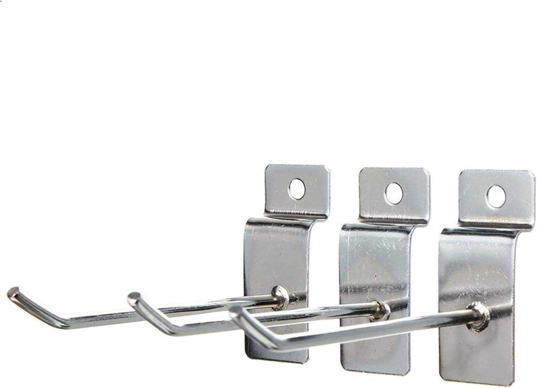 ANYUFEI Low price Portland Mall 25pcs 100mm Single Slatwall Hook Arm Fitting Display Pin