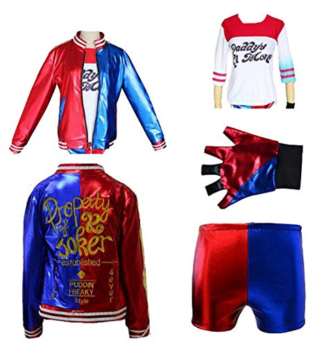 Fancyland Harley Quinn Kostüme Set Karneval Fasching Halloween Cosplay