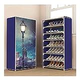 Jixi Zapatero simple de varias capas, zapatero para entrada, estante de metal multifuncional, para 12 – 15 pares de zapatos...