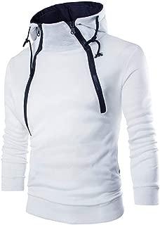 Men's Hoodies Beautyfine Long Sleeve Patchwork Hooded Sweatshirt Top Tee Outwear Blouse Pullover
