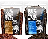 Grain Free Dog Training Treats (1KG) 2 Pack - 500g Poutlry & 500g Fish 100% Natural Healthy Treat Pack - Hypoallergenic Treats for Dogs with Sensitive Stomachs - Gluten Free