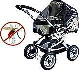 GeekerChip moustiquaire poussette universelle,moustiquaire bebe,poussette Optimale contre les piqûres,Tissu à Mailles résistante,solide et lavable-Noir