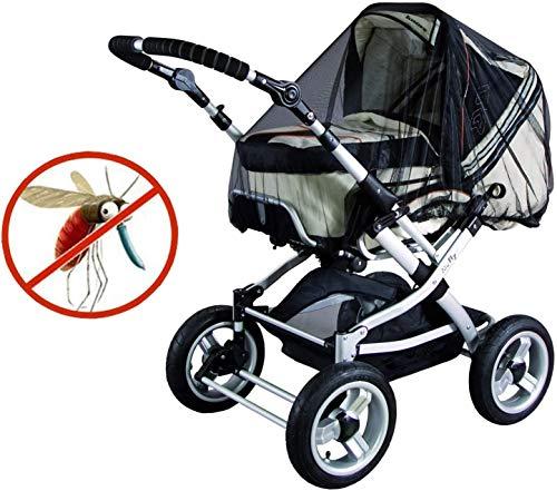 GeekerChip moskitonetz kinderwagen/Mückennetz für Kinderwagen & Buggy,Moskitonetz mit Gummizug,idealer Schutz vor Wespen & Stechmücken dank feinem Netzgewebe-Schwarz
