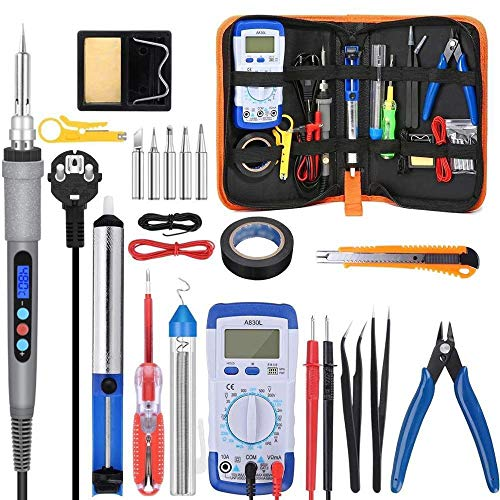 Purchase No-branded 90w 220v 110v Soldering Iron Kit Electric Soldering Iron with Multimeter Set Sol...