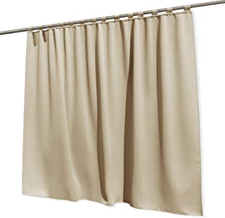 RYB HOME Extra Wide Curtains Outdoor Patio Panel Insulated Blackout Drape Repel Summer Heat Privacy Outdoor Curtains for Sliding Glass Door Gazebo Porch, Wide 100 x Long 120 inches, Cream Beige