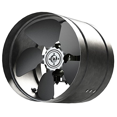 Axial Rohrventilator Ø 250 mm Rohrlüfter Lüfter 1000m³/h Hochdruck Ventilator Zuluft Abluft Gebläse Metall Radialventilator Absauglüfter Absaugung aR