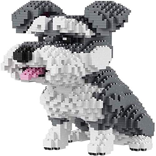 Cute dog, nano building block set 2100PCS nano mini building block animal 3D DI toy, the best toy building block gift for children
