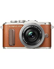 Olympus Pen E-PL8 Kit, Cámara de Sistema Micro Cuatro Tercios (16,4 MP, Estabilizador de Imagen de 5 Ejes, Visor Electrónico, FHD Vídeo) + Objetivo M.Zuiko 14-42mm EZ, marrón/Negro