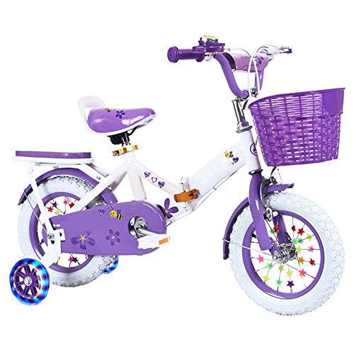 ZCRFY Bicicleta para Niños De La Bici Plegables Ajustables Muchachas 3-15 Años...