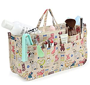 Large cosmetic bag covered in dogs