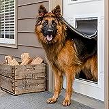 PetSafe Puerta de Aluminio para Mascotas para Condiciones Climáticas Extremas, Sistema de Solapa con Aislamiento de 3 Aletas de Plástico de Bajo Consumo, 1 Aleta de Cierre, Resistente, Extragrande, XL