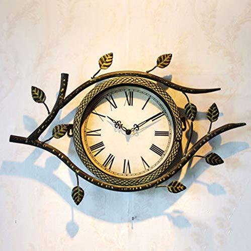 American Originality Horloge Murale De Mur De Salon Élégant Décore Iron Art À Restaurer De Manières Antiques Horological Europe Type Horloge Murale Ménagère Mutehttps: //detail.tmall.com/item.htm? Spm