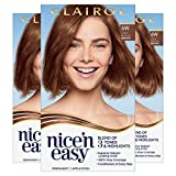 Clairol Nice'n Easy Permanent Hair Color, 6W Light Mocha Brown, 3 Count