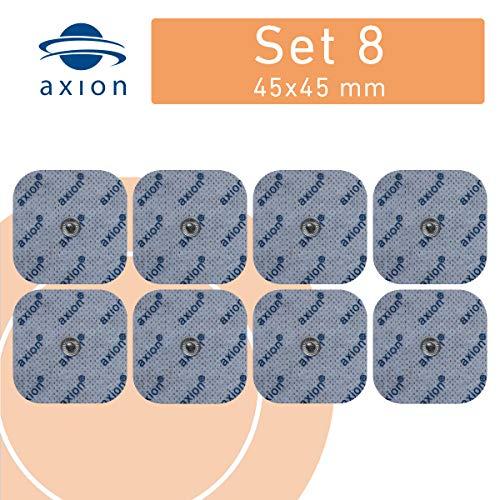 8 axion Elektroden-Pads 45x45mm - passt zu EMS- & TENS-Geräten von Sanitas & Beurer
