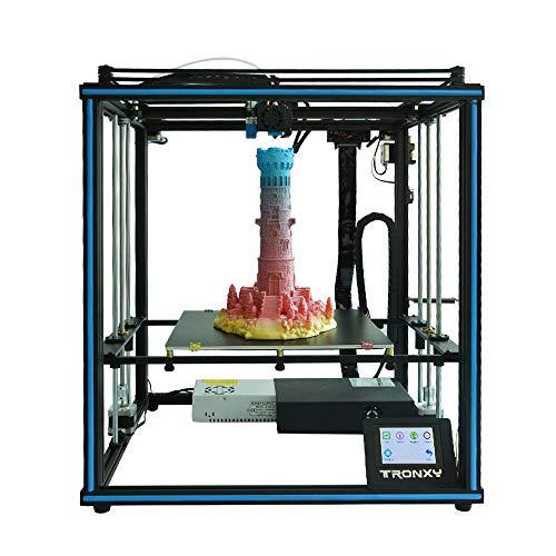 TRONXY X5SA 3D Drucker mit Guter Qualität, neuem Extruder, Stabilen Vollmetall-Rahmen und Ultrabase Heizbett für 1,75 mm Filamente TPU, PLA, ABS geeignet