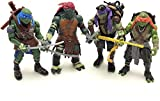 Chez Inspired by Ninja Turtles Mutant Teenage Action Figures Classic Model 2014 5.5 in (Set 4 pcs)