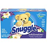 Product Image of the Snuggle Exhilarations Fabric Softener Dryer Sheets, Lavender & Vanilla Orchid, 105 Count