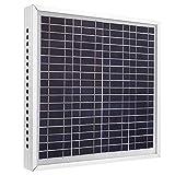 JULYKAI Ventilador de ventilación Solar, 12V 15W Panel de energía Solar Ventilador de extracción Kit de ventilación Ventilador de Techo para Ventilador de Invernadero Extractor de Pared Ventilador