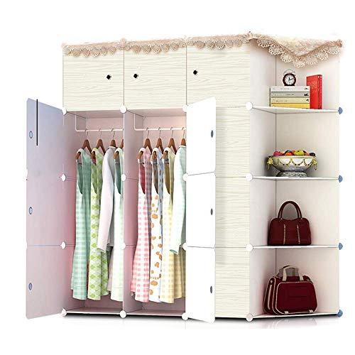 Lipenli Simple Wardrobe Armario de gran capacidad simple Armario estilo simple armario de ropas impermeables Gabinete modular de almacenamiento Organizador for el dormitorio Decoración Estanterías y a