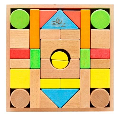 Lihgfw Große Größenbausteinspielzeug, hölzerne pädagogische Spiele für Kinder, Holzspielwaren in Kinderfarbe, Geburtstagsgeschenke für Jungen und Mädchen (Color : Multi-Colored)