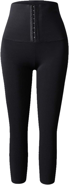 APTOX Frauen Sauna Jogginghose High Waist Sporttraining Leggings Fitnessstudio Fitness/übung Caprihose Workout Thermo Body Shaper Nahtlose Leggings Activewear