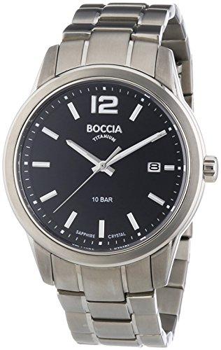 Boccia Herren-Armbanduhr XL Analog Quarz Titan 3581-01