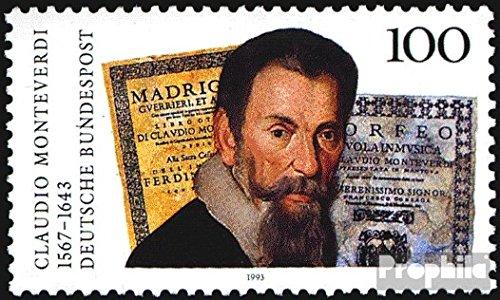 Prophila Collection BRD (BR.Deutschland) 1705 (kompl.Ausgabe) 1993 Claudio Monteverdi (Briefmarken für Sammler) Prominente / Film / Theater