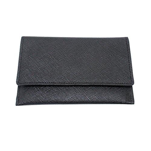 Boshiho Slim Wallet para iPhone 5diseño de Piel Tipo Tarjeta Caso con Titular de la Tarjeta de Crédito, Color Negro, Talla Talla única