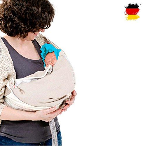 Lodger Shelter 2.0 - 3in1 Babytrage, Babytragetuch, Babysling Transportdecke für Babys und Eltern, ab Geburt bis 18M (max.12kg)