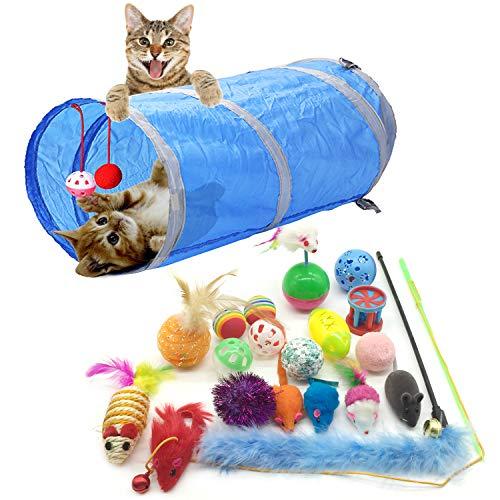 PietyPet Katzenspielzeug, Katze Toys Variety Pack, Spielzeug für Katzen Kitty 20 Stück