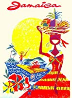 ERZAN 大人の子供のおもちゃジャマイカジャマイカカリブ島の女の子ビンテージ旅行広告芸術創造的なギフト300ピース ジグソーパズル