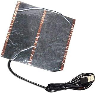 Goodtimera - Alfombra calefactora eléctrica por infrarrojos USB de 5 V para alfombrilla de ratón y pies, bajo consumo de energía, lavable, 15 × 16,5 cm, 15 × 16,5 cm, 16,5 cm, 16,5 cm, 16,5 cm