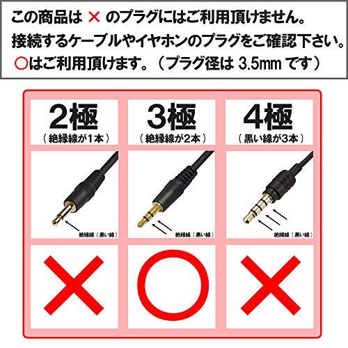 『φ3.5mm ステレオミニプラグ(メス)を⇒φ6.3mm モノラル標準プラグ(オス) に変換 PLG-N6202』のトップ画像