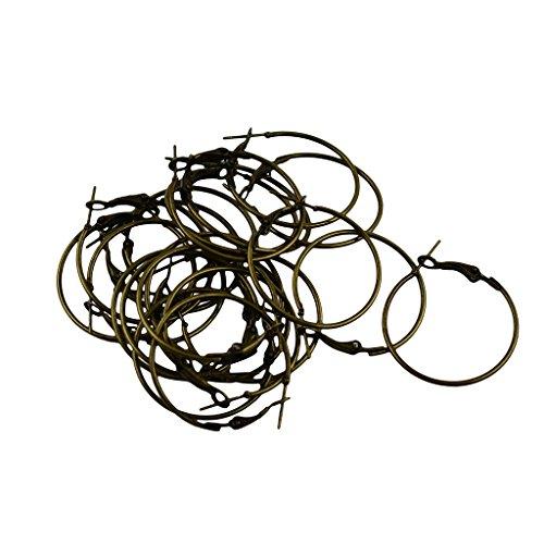 20pcs Plain 30mm Round Ring Hoop Draht Erkenntnisse Für Ohrringe & Weinglas Charms - Bronze