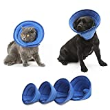 HanryDong Breathable Mesh Elizabethan Collar, Blue Soft Comfy Adjustable E-Collar, Quicker Healing Pet Recovery Cone, Soft Edges,Anti-Bite/Lick for Cat, Dog, Rabbit.