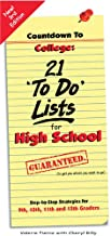Countdown to College: 21 'To Do' Lists for High School