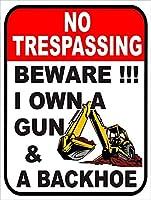 警告:銃のバックホーを所有していることに注意してください