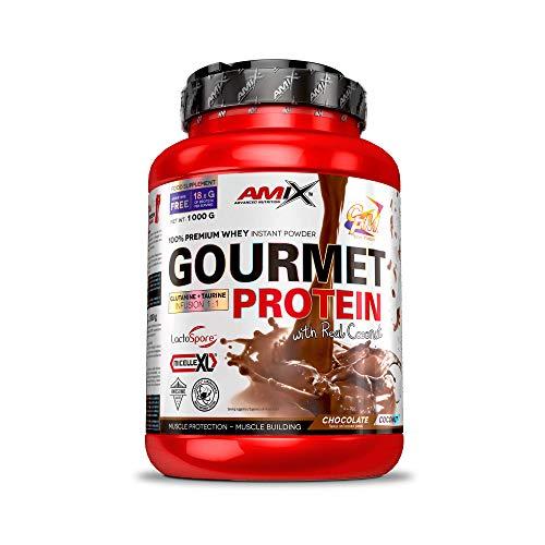 Amix - Gourmet Protein - Suplemento Alimenticio - Mejora del Rendimiento - Contiene Aminoácidos Bcaa - Glutamina en Polvo - Nutrición Deportiva - Sabor a Chocolate-Coco - Bote de 1 Kg