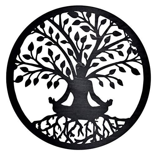 Baum des Lebens Bild aus Holz | Holzbild | Variante 7 | Wandbild | Lebensbaum | verschiedene Größen und Farben | Ø 44cm, 55cm, 66cm, 77cm, 88cm