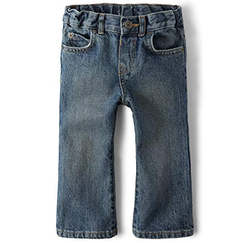 The Children's Place Little Boys and Toddler Bootcut Jean, River, 2T