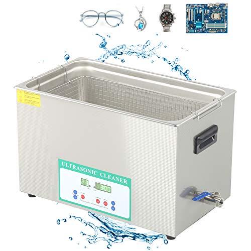 Limpiador profesional de acero inoxidable 304 de 220 V con temporizador digital y calentador para gafas, relojes, herramientas electrónicas(220V European standard, pink)