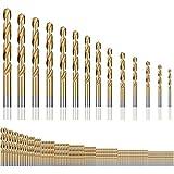 Brocas Helicoidales, Bst4UDirect Juego MéTrico de Brocas de Micro Titanio 1.5mm-10mm para Madera, PláStico(120PCS)