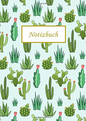 Notizbuch: Kaktus Cactus A5 Dotted, Dot Grid Journal Deutsch, Dot Grid Notebook, Punktraster Notizbuch A5, Gepunktetes Notizbuch,Tagebuch, Agenda ... (Punktpapier) (Notizbuch Dotted A5, Band 7)