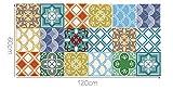 """Alwayspon Azulejos de Vinilo Suelo Sticker, Impermeable Antideslizante Azulejos de la Etiqueta para la Cocina Y Baño 23.6X47.2"""" /, PC 1 Mediterranean 60x120cm (Moroccan-20, 60x120cm, 1Pcs)"""