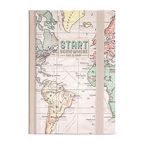 Legami - Agenda Settimanale 16 mesi, da Settembre 2021 a Dicembre 2022, 9,5x13,5 cm, con Notebook per Appunti, con Piano Ferie, Planner Mensile, Elastico, Segnalibro, Travel, SMALL