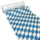 JUNOPAX 38570915 Oktoberfest - Camino de Mesa de Papel (50 x 0,40 m), diseño de Rombos, Color Azul