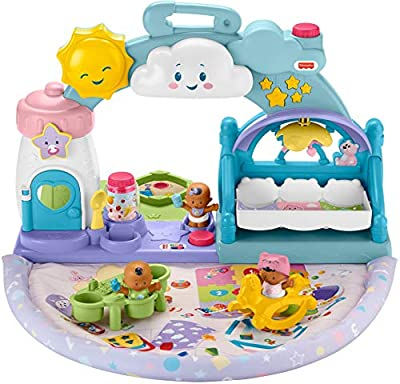 Fisher-Price Little People 1-2-3 Babies Playdate Musical playset with 3 Baby Figures for Toddlers and Preschool Kids by Fisher-Price